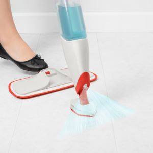 Microfiber Spray Mop with Slide-Out Scrubber