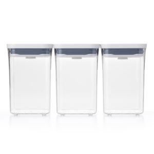 Good Grips 3pc Square Short POP Container Set