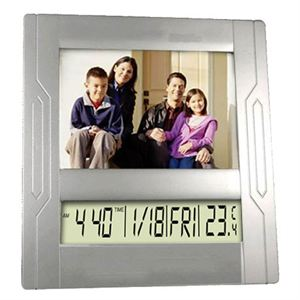 Picture Frame with Clock and Calendar