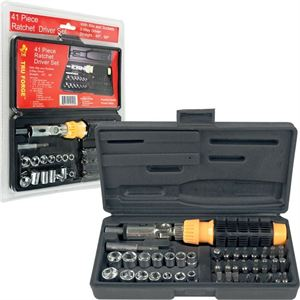 41pc. 3-Way Ratchet Driver Set