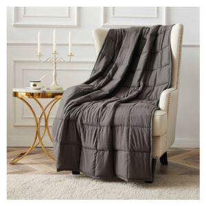 12 LB - Microfiber Weighted Blanket - (Pearl)