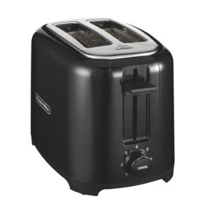 2-Slice Wide Slot Toaster Black