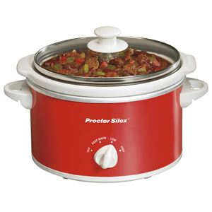 1.5 Quart Portable Slow Cooker Red
