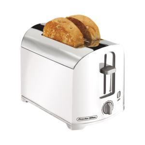 2-Slice Toaster White/Chrome