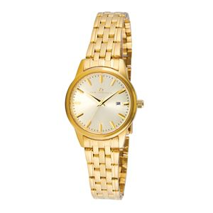 Women's Champagne Dial Watch with Gold-tone Stainless Steel Bracelet