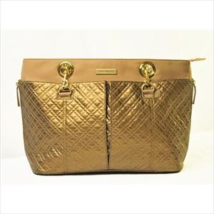 Quilted Tote in Gold