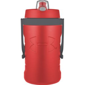 Foam Insulated 64oz Hydration Bottle w/ Push Button Lid Red