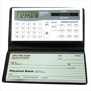 Checkbook Calculator w/3 Memories & Designer Wallet