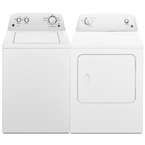 3.5 cu.ft. Top-Load Washer & 6.5 cu.ft. Gas Dryer Pair-White