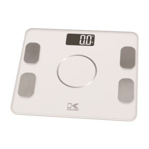 Bluetooth White Electronic Body Fat Scale with body analysis