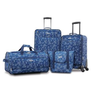 Fieldbrook Xlt 4Pc Set (Small Satchel/Wh Dfl/21/25 Spinner) - Blue Floral