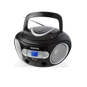 Portable Bluetooth CD Boombox w/ AM/FM Tuner Black
