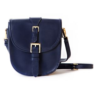 JANE Crossbody Genuine Leather Camera and Tech Bag (Blue)-