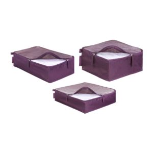Ricardo Beverly Hills - Essentials 2.0 Packing Cubes - Set of 3 - Aubergine