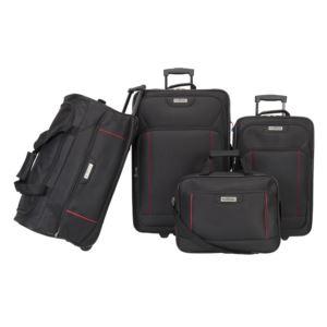 American Explorer - Columbus 4 Piece Premium Luggage Set - Black
