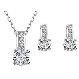 Dazzling CZ Necklace and Earring Set