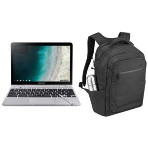 "Chromebook Plus 12.3"" Hexa-Core Laptop w/ Anti-Theft Backpack"