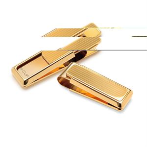 New Yorker Gold Channeled Money Clip