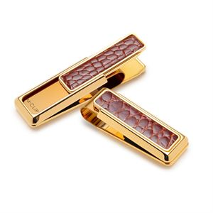 New Yorker Cognac Alligator Money Clip