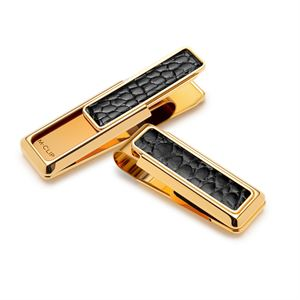 New Yorker- Genuine Black Alligator Inlay Money Clip