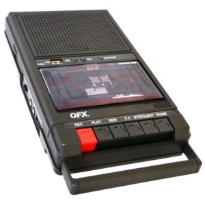 Shoebox Cassette Tape Recorder
