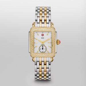 Ladies Deco 16 Two Tone Diamond, Two Tone Bracelet