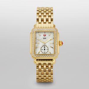 Ladies Deco 16 Diamond Gold