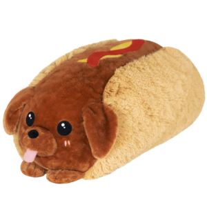 """15"""" Dachshund Hot Dog Squishable Plush Ages 3+ Years"""