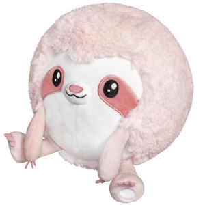 "7"" Mini Pink Sloth Squishable Plush Ages 3+ Years"