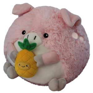"7"" Mini Pig Holding a Pineapple Squishable Plush Age 3+ Yrs"