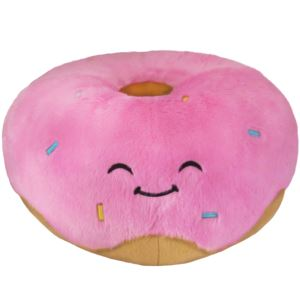 "15"" Pink Donut Squishable Plush Ages 3+ Years"