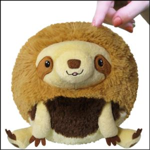 "7"" Mini Baby Sloth Squishable Plush Ages 3+ Years"