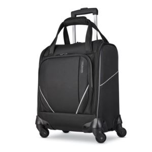 Zoom Turbo Wheeled Underseat Softside Spinner Black