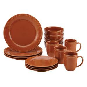 Cucina 16pc Dinnerware Set - Pumpkin Orange