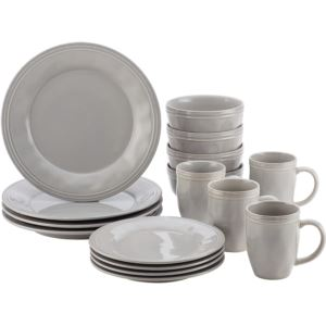 16pc Stoneware Dinnerware Set - Sea Salt Grey
