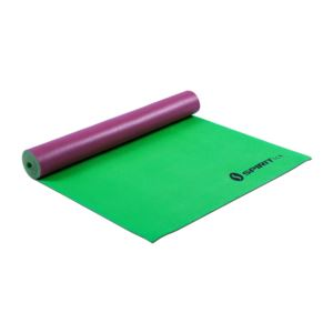 "Yoga Mat 24"" x 69"" x 5mm Maroon/Leaf"