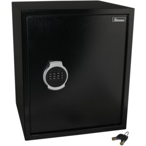 Digital Security Safe Lock Box with Bolt-Down Hardware and Programmable Lock
