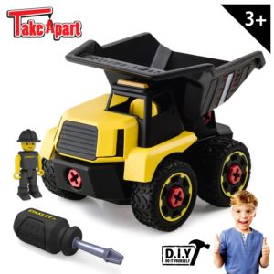 Stanley Jr. Take Apart Dump Truck Kit For Kids - 24-Piece Stem Construction Toy