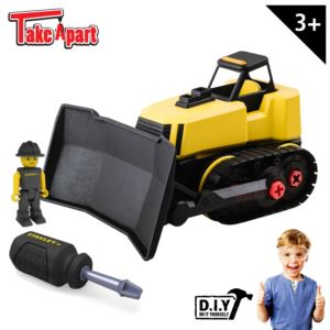 Stanley Jr. Take Apart Bulldozer Kit for Kids - 24-Piece Yellow STEM Construction Toy Truck