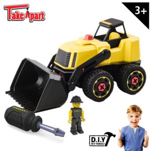 Stanley Jr. Take Apart Front Loader Kit for Kids - 25-Piece Yellow Stem Construction Toy