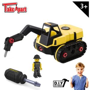 Stanley Jr. Take Apart Jackhammer Kit for Kids - 25-Piece Yellow STEM Construction Toy Truck