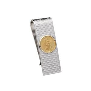 Sterling Silver and 22k Gold Coin Moneyclip