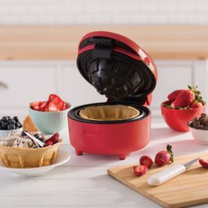 Deluxe Waffle Bowl Maker - (Red)