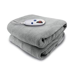 Electric Heated Micro plush Throw with Digital Control - (Grey)