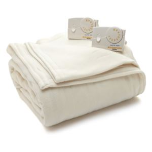 Comfort Knit Fleece Heated Queen Blanket - (Natura