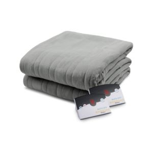 Comfort Knit Fleece Heated Queen Blanket - (Grey)