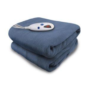 Electric Heated Micro plush Throw with Digital Control - (Denim)