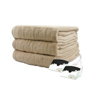 Electric Heated Micro plush Blanket with Digital Control - (Queen) - (Taupe)