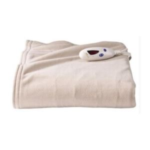 Electric Heated Micro plush Throw with Digital Control - (Taupe)