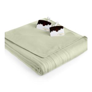 Comfort Knit Fleece Heated Queen Blanket - (Sage)